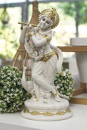 Krishna - White and gold