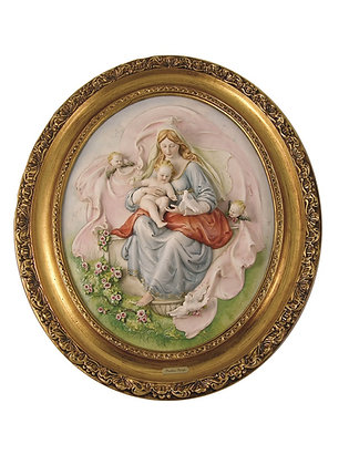 Plaque of Madonna with doves
