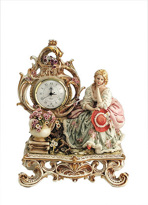 Lady on bench - Clock