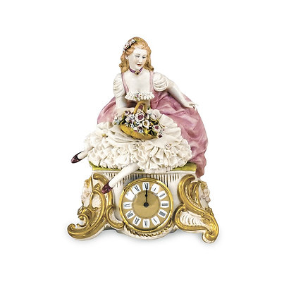 Clock with lady