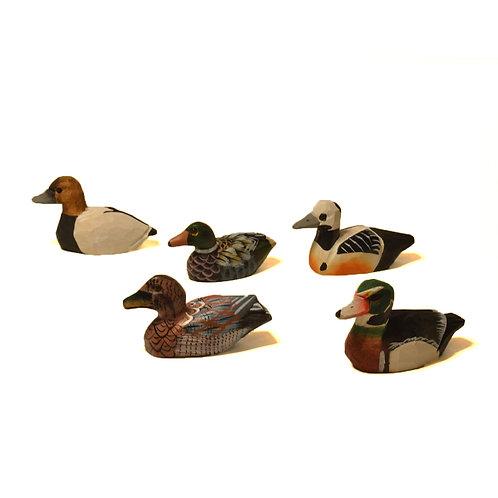 Miniature Carved Ducks