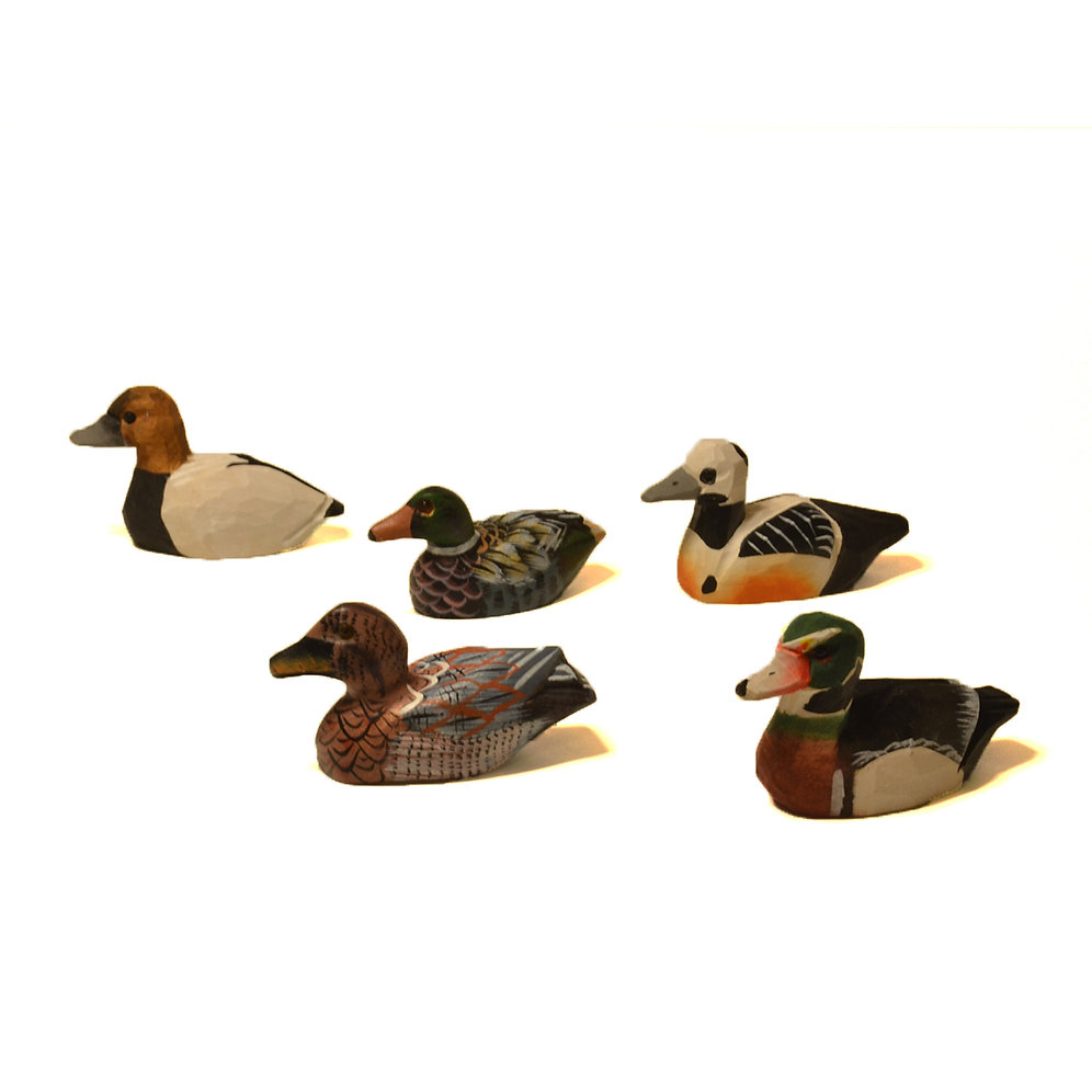 Miniature Carved Ducks