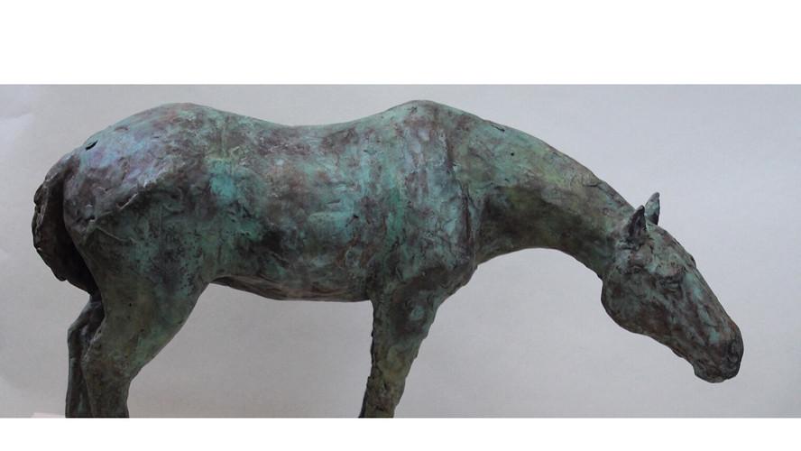 A horse in bronze