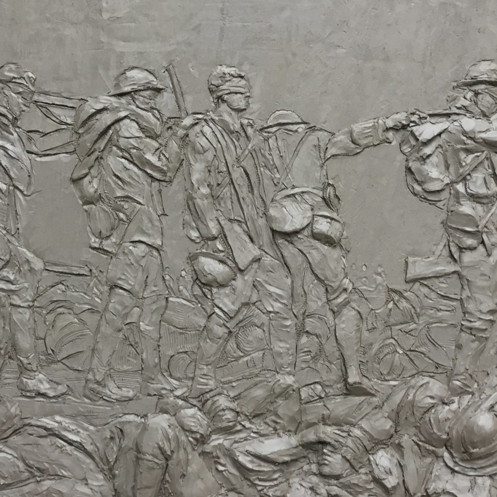 'Gassed' by John Singer Sargent modelled in clay