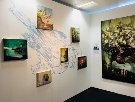 Chris Hawtin designs a stunning backdrop forart projects @the London art fair