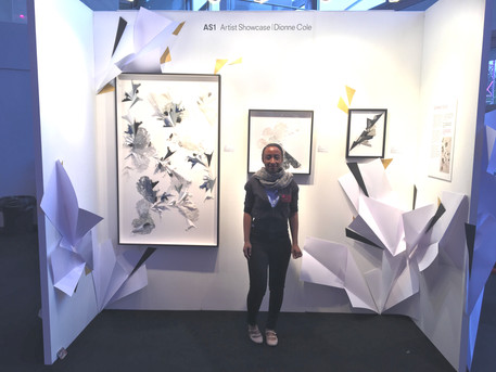 Dionne Cole launches her artist showcase at the Affordable Art Fair 2019
