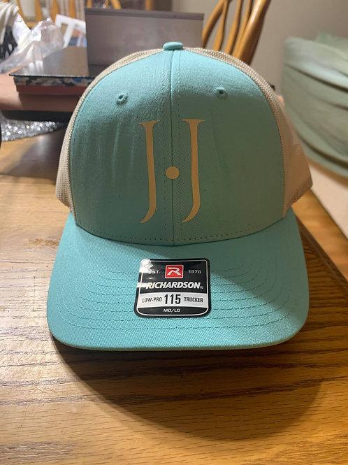 Blue and Cream Hat