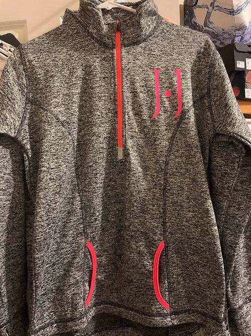 Grey and Pink 1/4 Zip