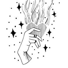 Hand Heart Flame