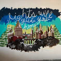 Coldplay x Harry Potter Mural