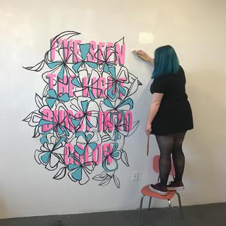 She's A God Mural