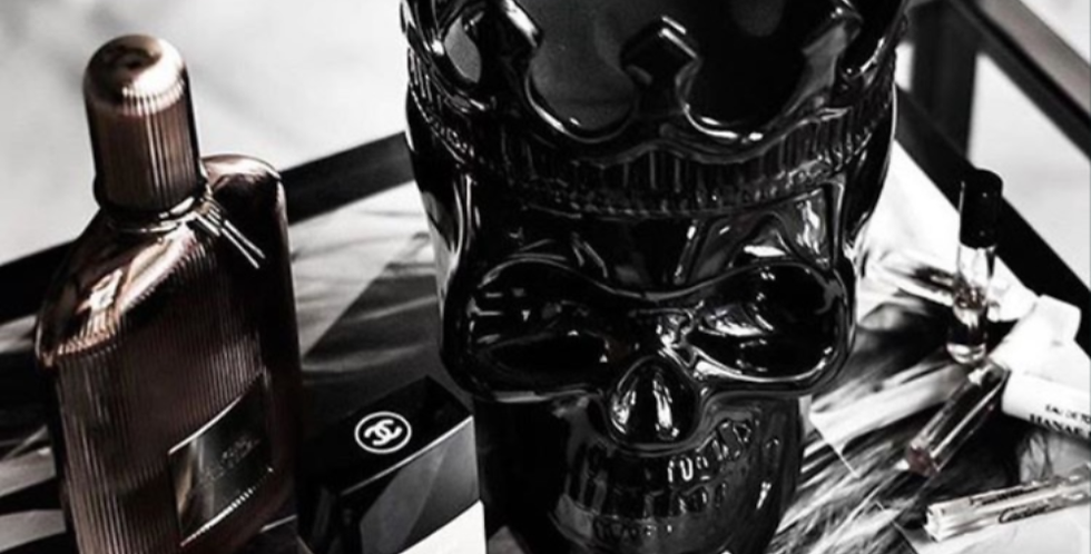 Thompson Ferrier Black Dantés Skull Candle