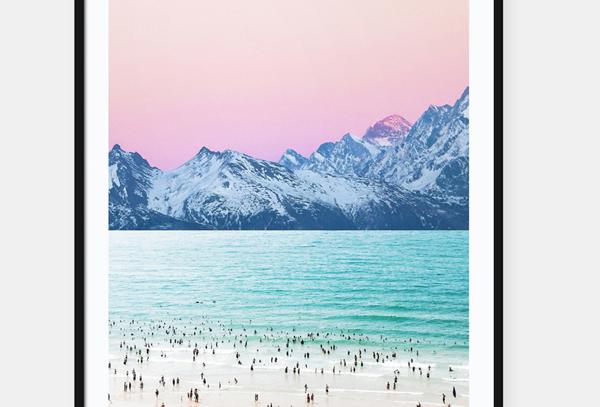 Pink Sky Print & Frame