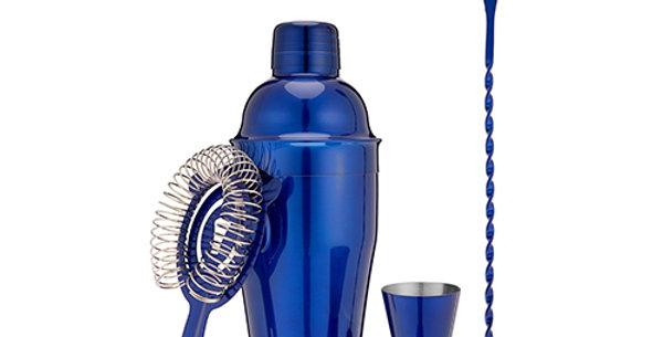 Blue Barware Set