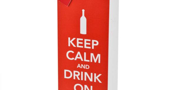 Keep Calm and Drink On Wine Bag