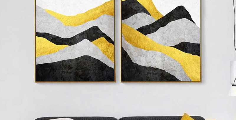 Abstract Landscape Mural