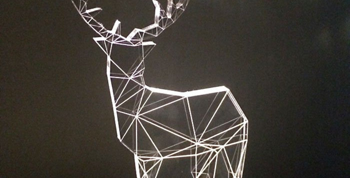 Transparent Fawn LED light