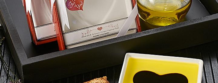 Love Infused Oil & Vinegar Plate