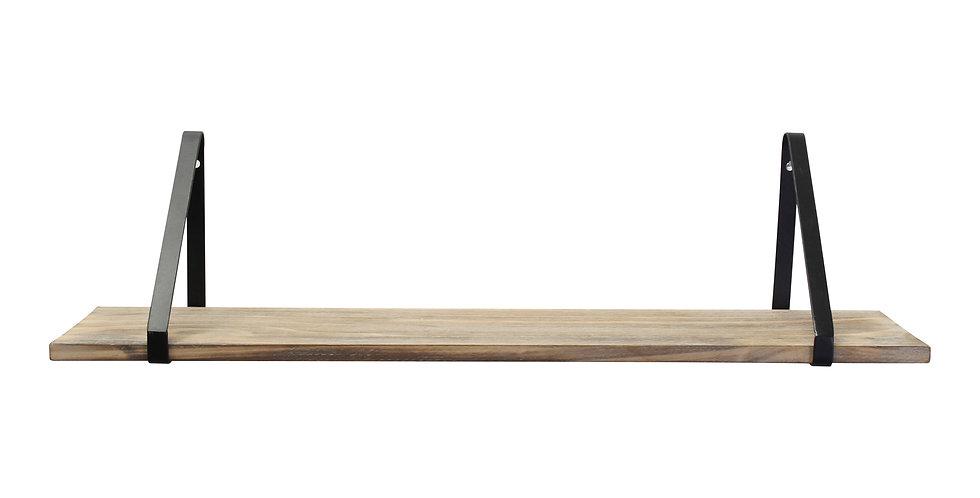 Natural Black Wood &  Metal Shelf