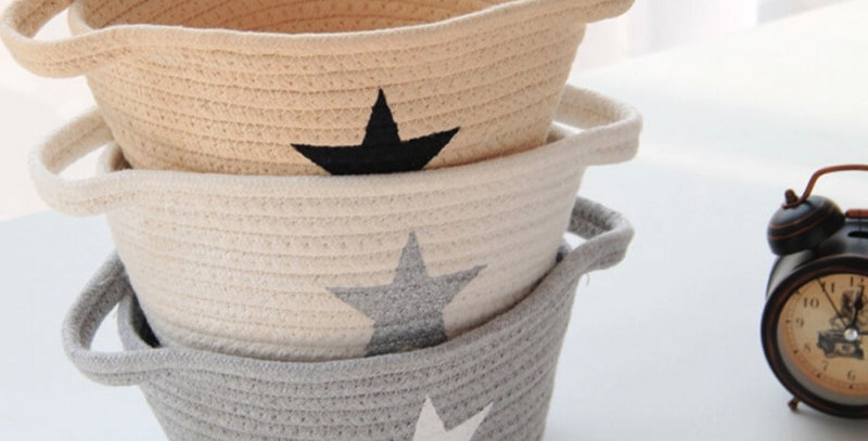 Foldable Cotton Basket