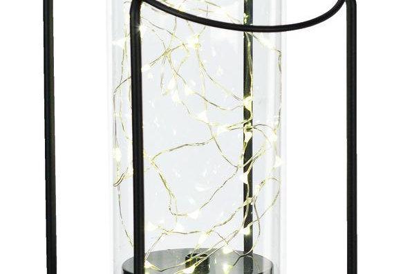 Paradise Lighting LED Glass/Metal Lantern  Black