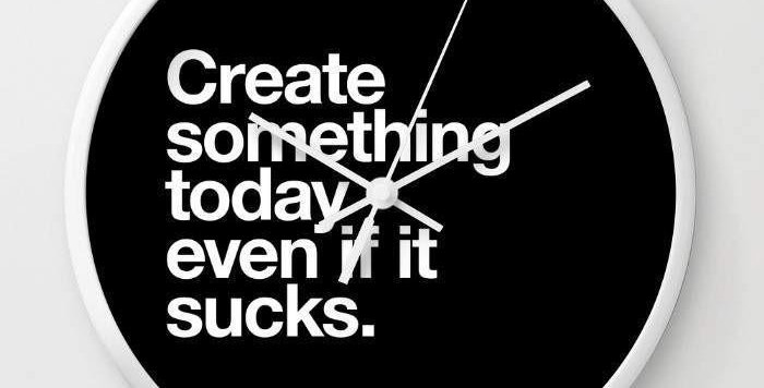Create Something Wall clock