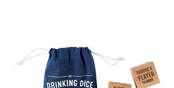 Wood Drinking Dice Set by Foster & Rye™
