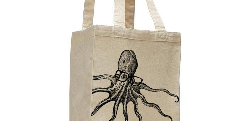 Octopus Canvas Cotton Tote