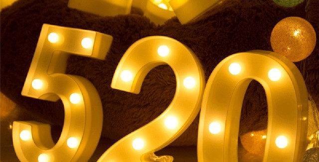 Numerals LED Night Lights Decoration