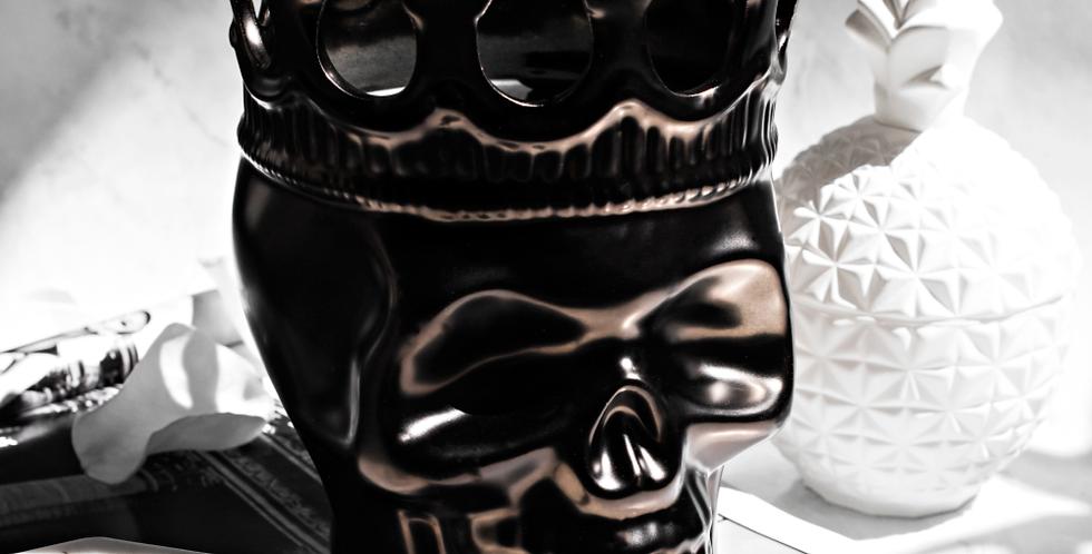 Thompson Ferrier Gunmetal Skull Candle