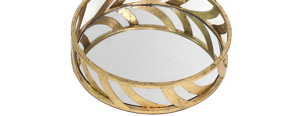 Gold Streamline Mirror Tray
