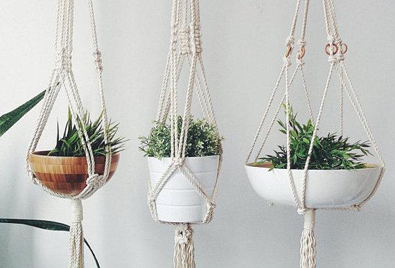 Macrame Plant Hanger (1 or 3)