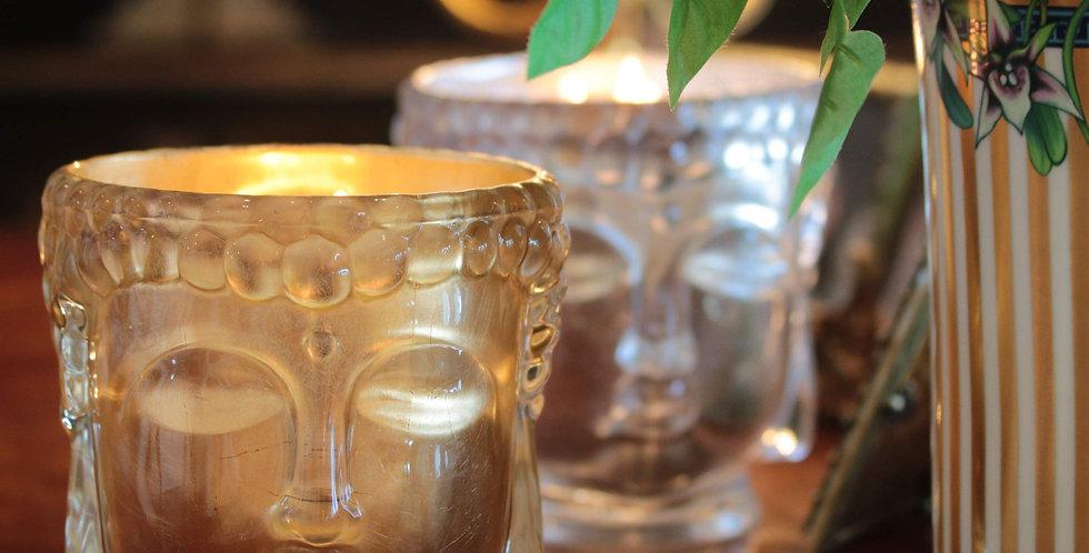 Thompson Ferrier Clear Glass Buddha w/ 24K Gold