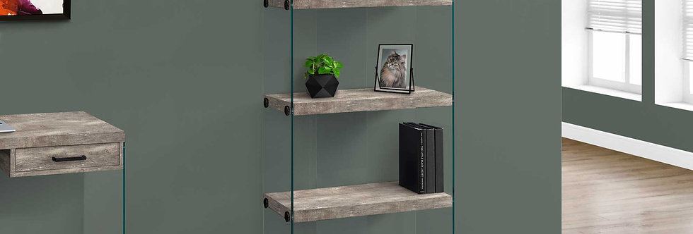 Taupe Reclaimed Wood Decor Stand