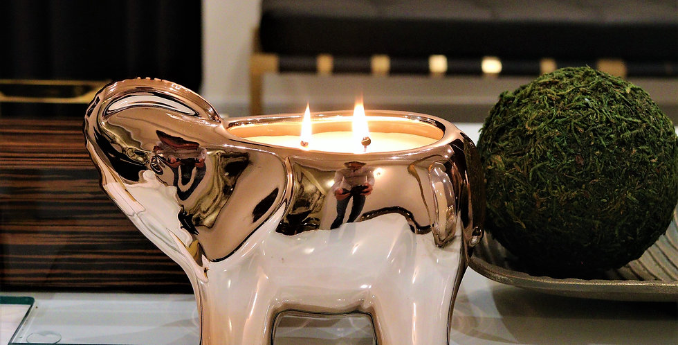Thompson Ferrier Rose Gold Elephant Candle