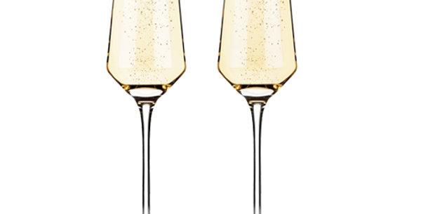 Viski® Crystal Champagne Flutes