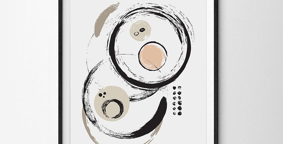 Abstract Circles Modern Art Print