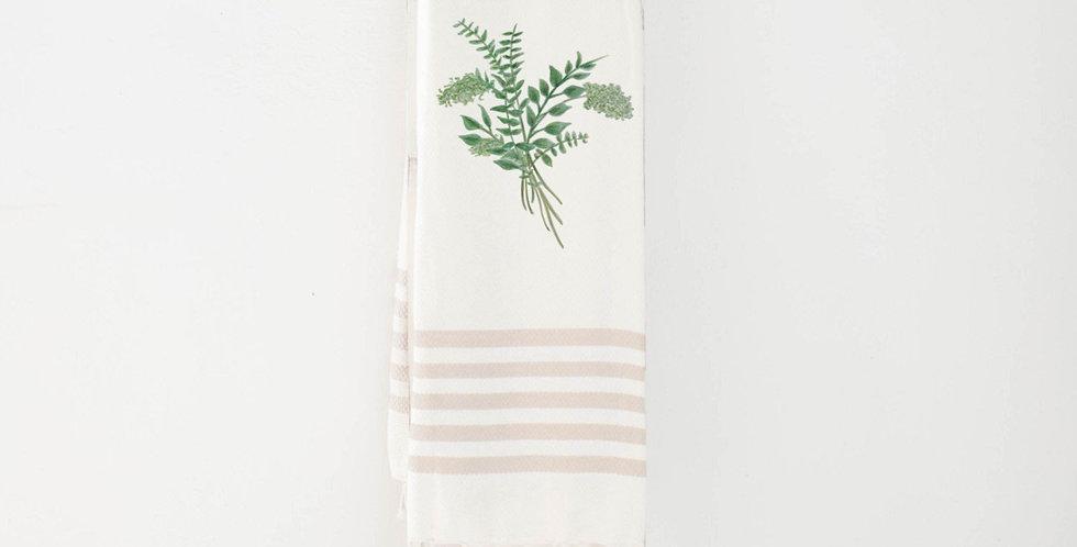 Eucalyptus Bunch Watercolor Throw Blanket