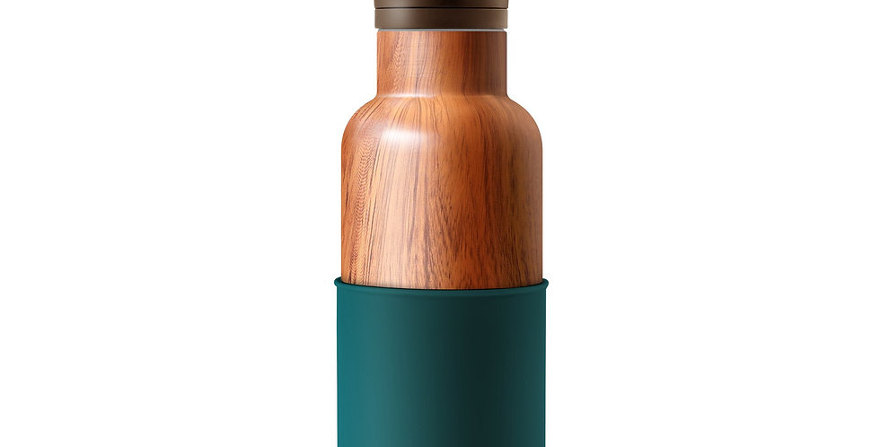 HYDY Wood Grain/Peacock Green 16 Oz