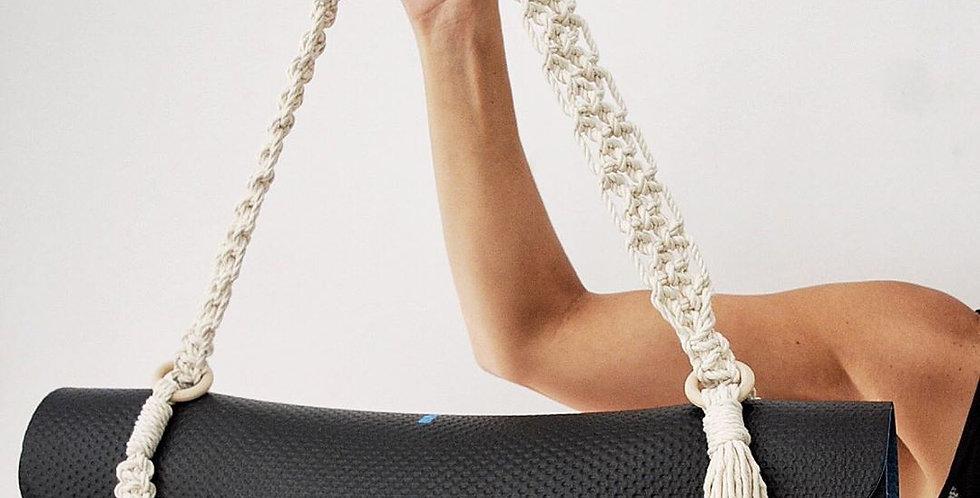 handmade macrame yoga mat travel strap