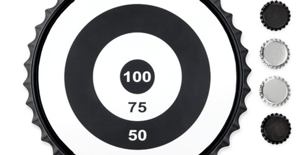 Bullseye Magnetic Bottle Cap Game