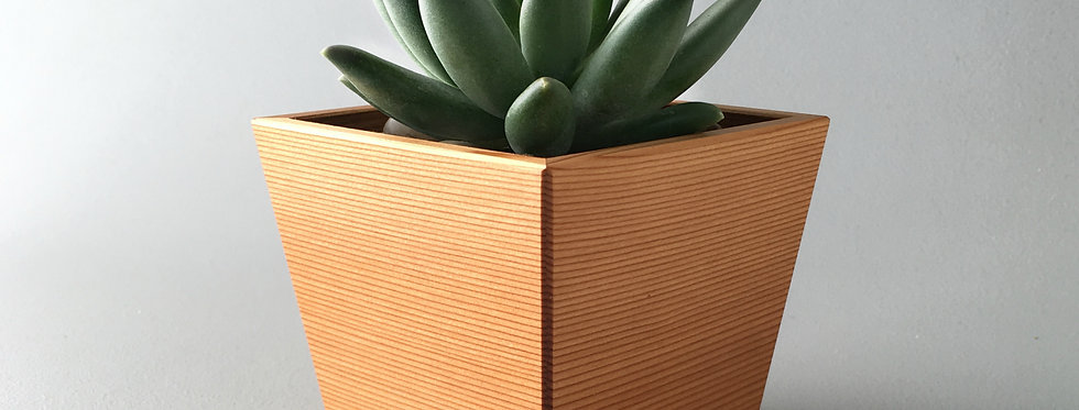 Geometric Modern Wood Succulent Planter