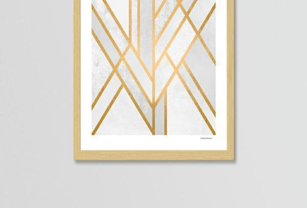 Art Deco Geometry Print & Frame