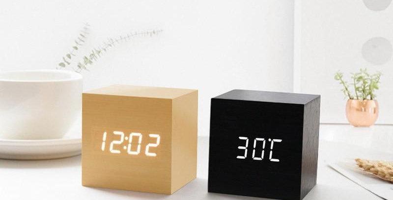 LED Wooden Clock Digital Alarm Clocks Desktop Table Clocks Electronic