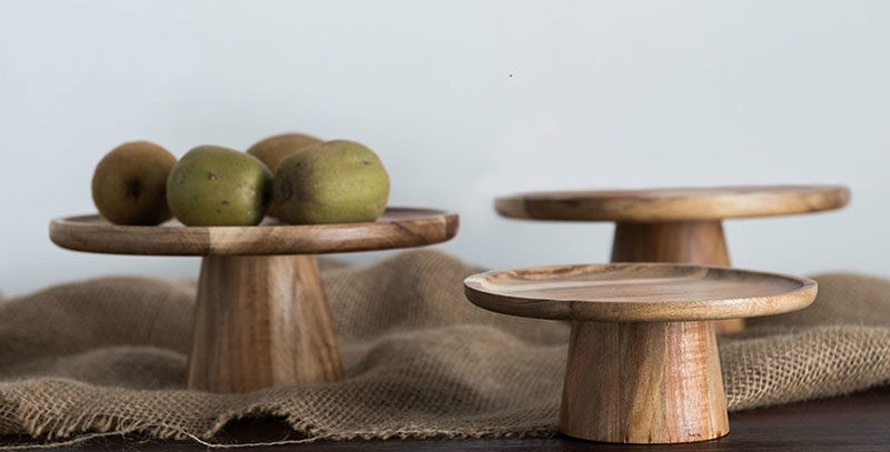 Artisan Wooden Dessert Display