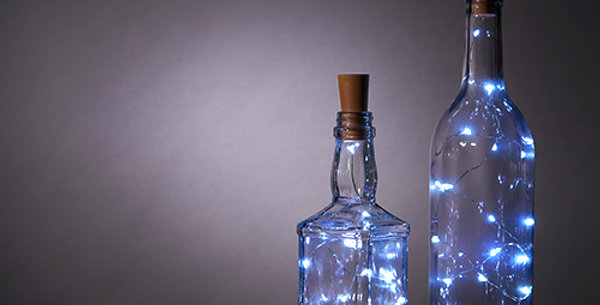 Cool White Bottle String Lights (Set of 2)