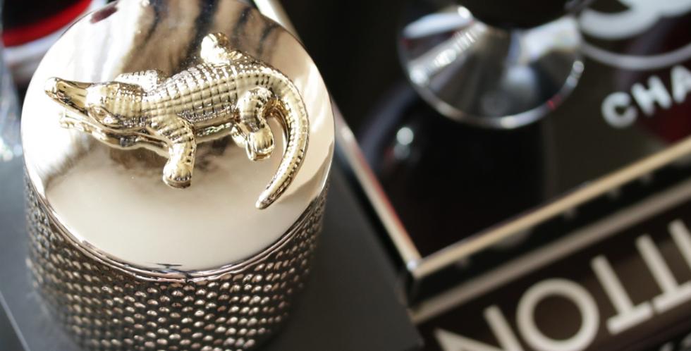 Thompson Ferrier Silver Croco Candle