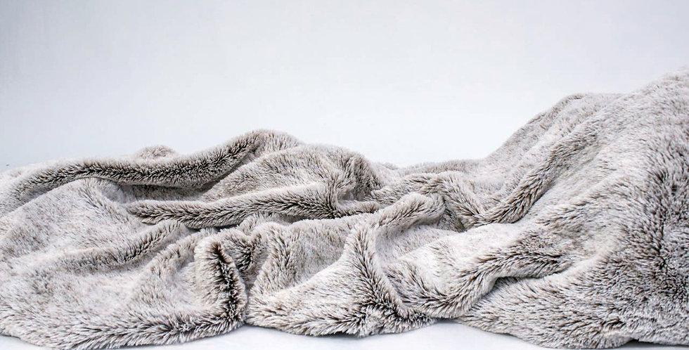 Luxury Gray Faux Throw Blanket