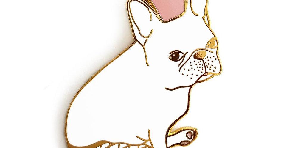 French Bulldog w/ Tights  Enamel Pin