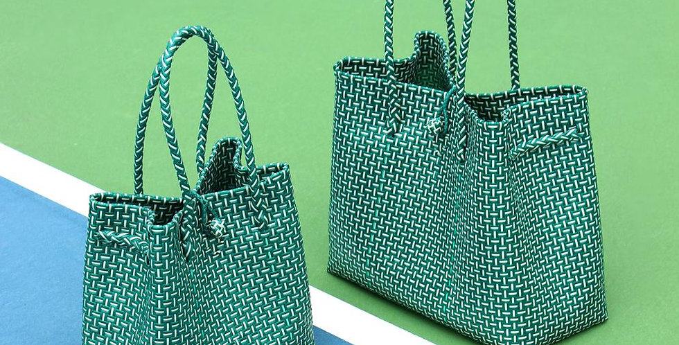 Toko Bazaar Woven Tote Bag (Green)